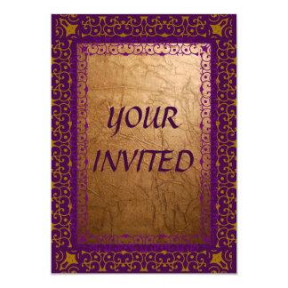 Eloquência real convite 12.7 x 17.78cm