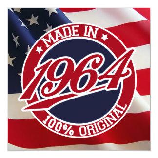 Em 1964 os Estados Unidos da América feitos dos Convite Quadrado 13.35 X 13.35cm