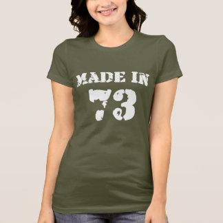 Em 1973 camisa feita