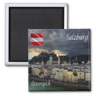 - Em Áustria - Salzburg Ímã Quadrado