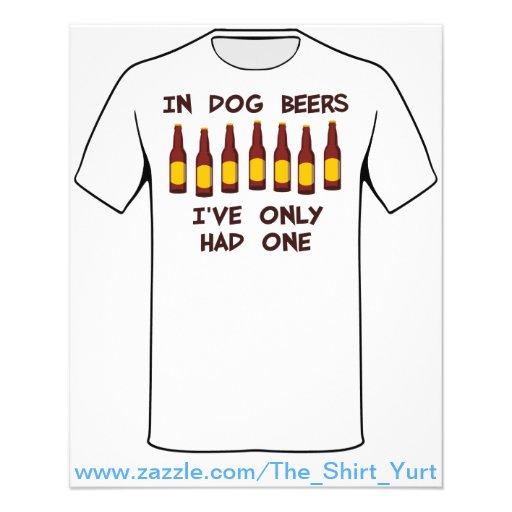 Em cervejas do cão eu tive somente um panfleto coloridos