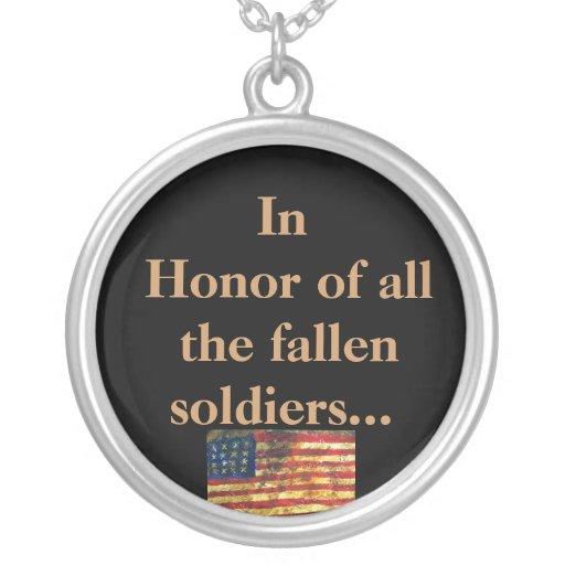Em honra de TODOS OS soldados caídos Bijuteria Personalizada