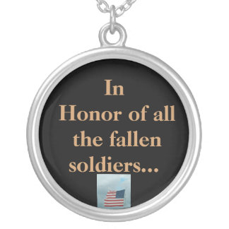 Em honra de TODOS OS soldados caídos Pingente