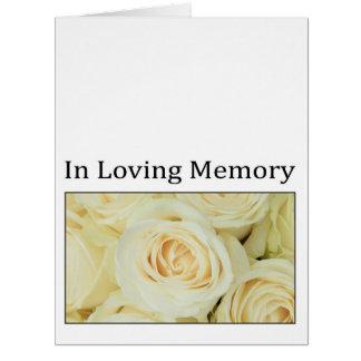 Em memória/celebração Loving do convite da vida Cartão Comemorativo Grande