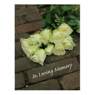 Em memória/celebração Loving do convite da vida Cartão Postal