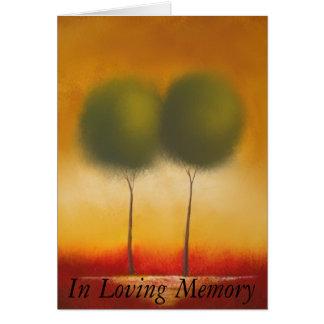 Em memória Loving Cartão Comemorativo