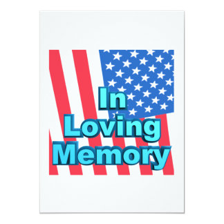 Em memória Loving Convite 12.7 X 17.78cm
