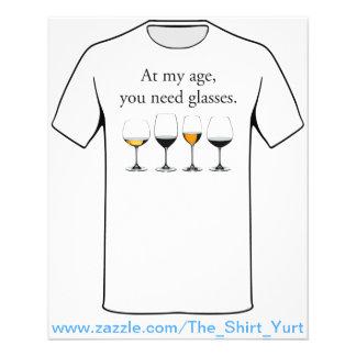 Em minha idade, você precisa vidros flyer 11.43 x 14.22cm