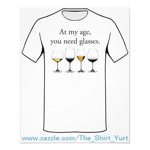 Em minha idade, você precisa vidros modelo de panfleto
