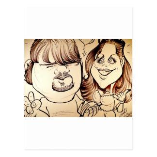 Em novembro de 2012 caricatura justa de Louisiana Cartão Postal