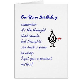 Em seu aniversário cartao