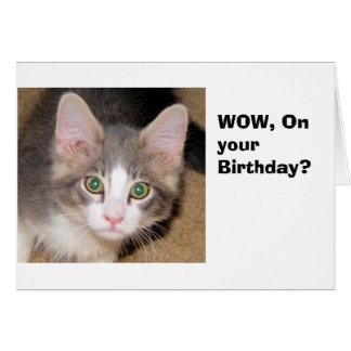 Em seu aniversário cartão comemorativo
