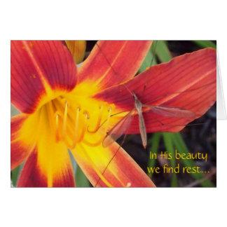 Em sua beleza cartão comemorativo