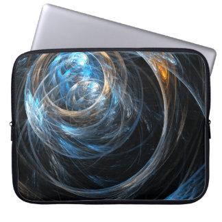 Em todo o mundo a bolsa de laptop da arte abstract capa para laptop
