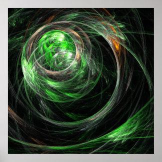 Em todo o mundo impressão verde da arte abstracta