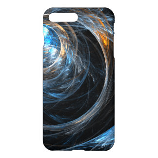 Em todo o mundo resíduo metálico da arte abstracta capa iPhone 7 plus