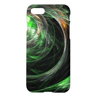 Em todo o mundo resíduo metálico verde da arte capa iPhone 7