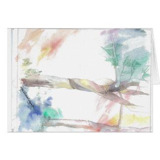 Em uma árvore cartão de nota