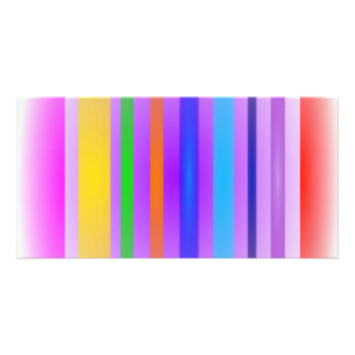 Embaçamento da lavanda da arte das listras vertica cartão com foto personalizado