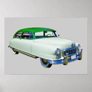Embaixador 1950 de Nash carro antigo Poster