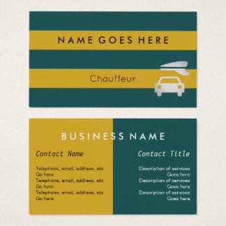 """""""Embandeira"""" cartões de visitas do Chauffeur"""