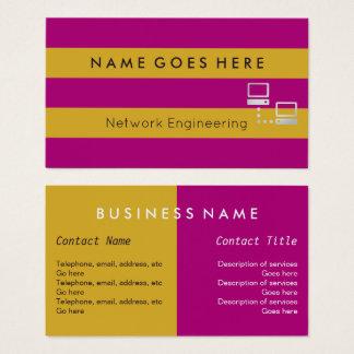 """""""Embandeira"""" cartões de visitas do engenheiro da"""