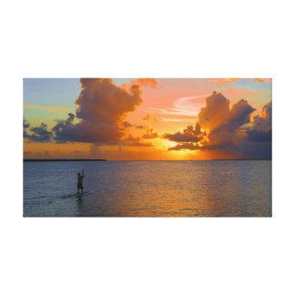 Embarque da pá no por do sol impressão em tela