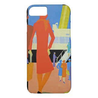 Embarque do art deco capa iPhone 8/7