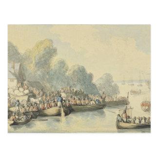 Embarque em Southampton o 20 de junho após o Cartão Postal