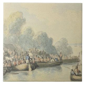 Embarque em Southampton o 20 de junho após o senho Azulejos