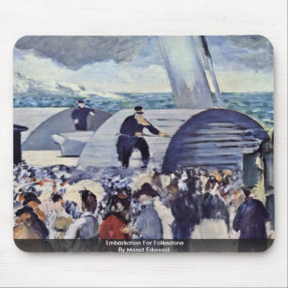 Embarque para Folkestone por Manet Edouard Mouse Pads