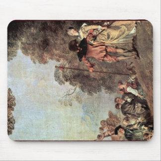 Embarque para o detalhe de Cythera por Watteau Ant Mousepads