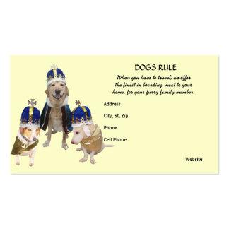 Embarque real do cão do tratamento cartão de visita