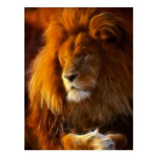 Embebendo acima o Sun, rei do leão da selva II Cartão Postal