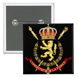 emblema de Bélgica Bóton Quadrado 5.08cm