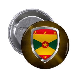 Emblema de Grenada Mettalic Bóton Redondo 5.08cm