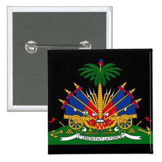 emblema de haiti bóton quadrado 5.08cm