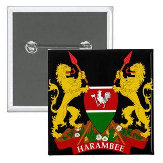 emblema de kenya bóton quadrado 5.08cm
