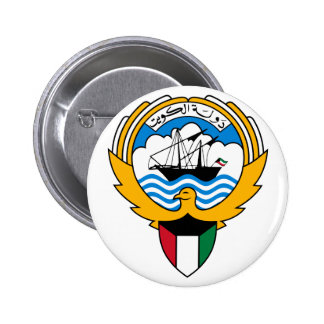 emblema de kuwait bóton redondo 5.08cm