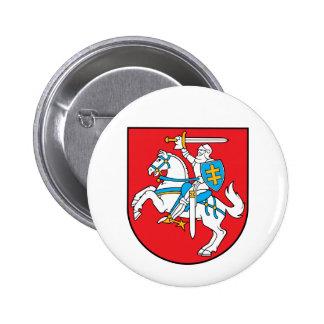 emblema de lithuania bóton redondo 5.08cm