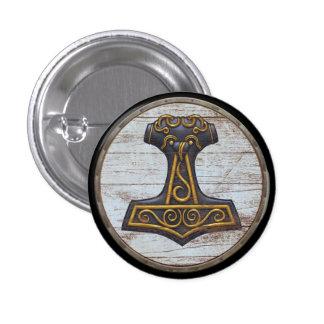 Emblema do protetor de Viking - o martelo do Thor Bóton Redondo 2.54cm