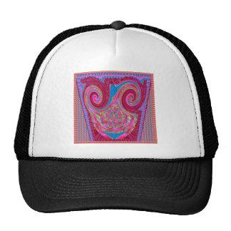 Emblema feliz da fita do rosa da onda de Twril dos Bonés