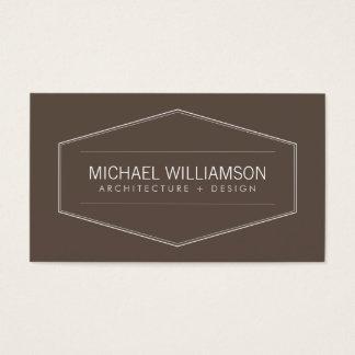 Emblema moderno do vintage no arquiteto de Brown, Cartão De Visitas