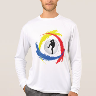 Emblema Tricolor do basebol Camiseta
