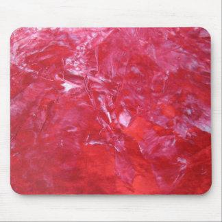 Emerge floral vermelho do cravo abstrato do mouse pad