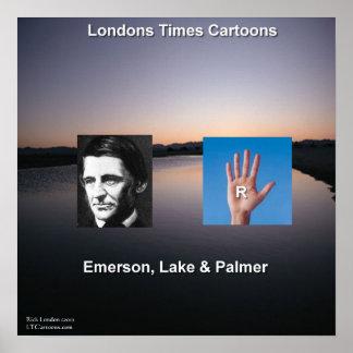 Emerson & o poster engraçado do lago