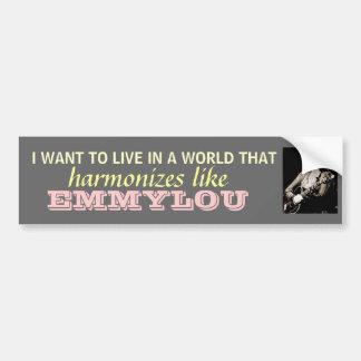 Emmylou Harris - harmonize… o bumpersticker Adesivo Para Carro