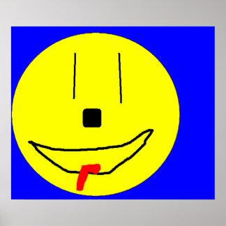 Emoji de sorriso engraçado, arte Digital dos Poster