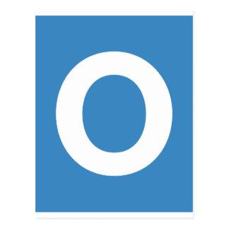 Emoji Twitter - Letter O Cartão Postal