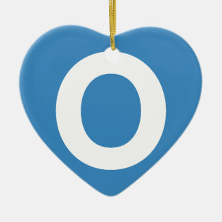 Emoji Twitter - Letter O Ornamento De Cerâmica Coração